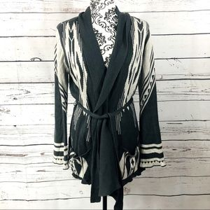 Billabong Open Front Belted Cardigan Sweater M